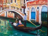 Painting oil original Venice