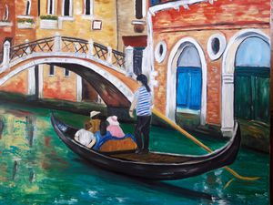 Oil painting To return to Venice