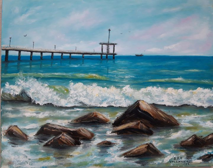 seascape The Song of the Sea - Valentine Kostadinova