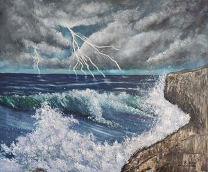 oil painting Wrath of the Sea