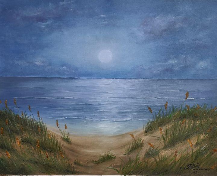 Oil painting Moonlight - Valentine Kostadinova