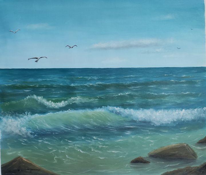 Oil painting Sea waves - Valentine Kostadinova