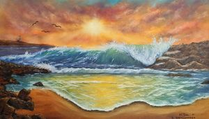 oil painting Sea magic