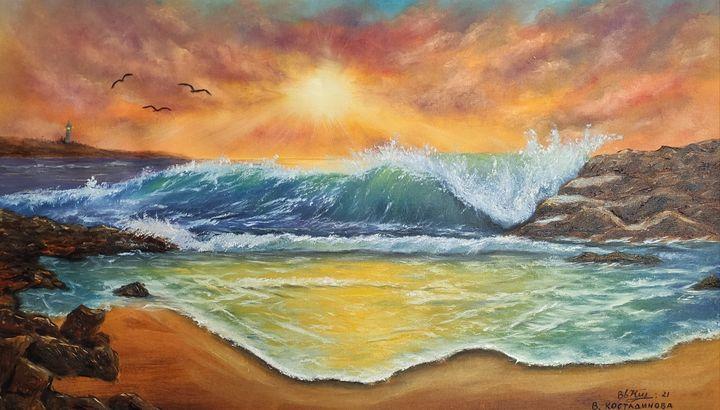 oil painting Sea magic - Valentine Kostadinova