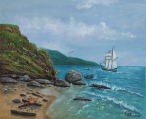 sea fairy oil painting