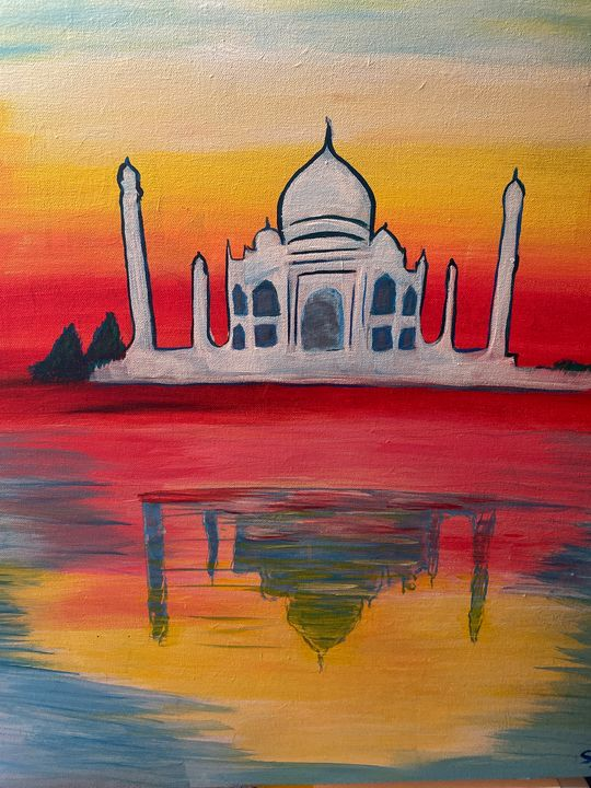 Taj Mahal reflection on Yamuna - Samtha