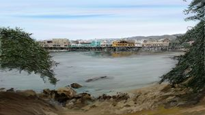 . Monterey Wharf Embraced with Trees