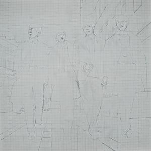 The Beatles preparatory drawing