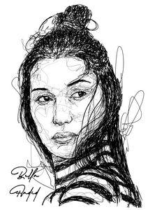 Scribble Art Bella Hadid