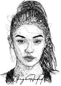 Scribble Art Gigi Hadid