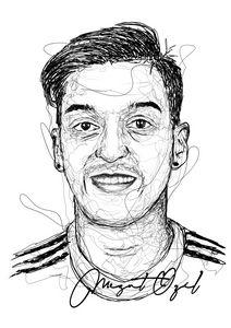 Scribble Art Mesut Ozil