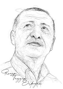 Scribble Art Recep Tayyip Erdogan