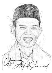 Scribble Art Ustadz Abdul Somad