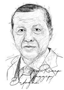 Scribble Art President Erdogan