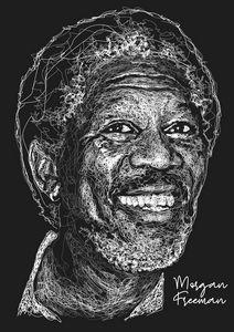Morgan Freeman Scribble Style