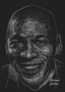 Michael Jordan Scribble Style
