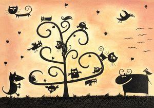 Friends Tree by GangLiON Art