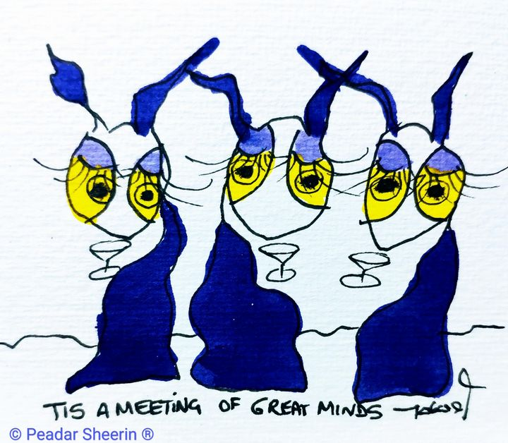 Tis a Meeting of Great Minds - MyTisArt