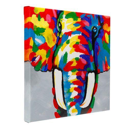 Colourful Elephant - Fun Animal Art