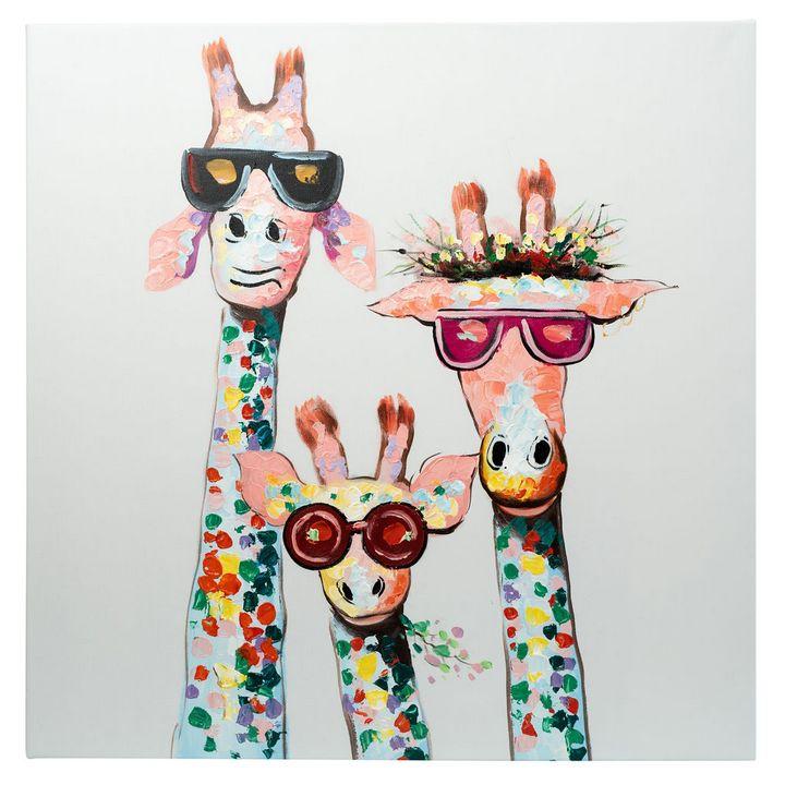 3 Cool Giraffes with Sunglasses - Fun Animal Art