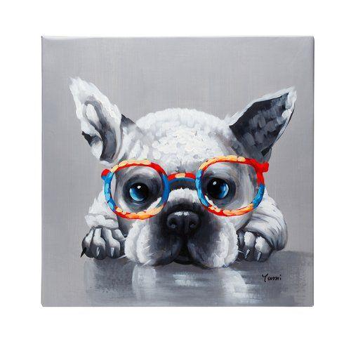 French bulldog oil on canvas - Fun Animal Art