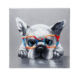 French bulldog oil on canvas