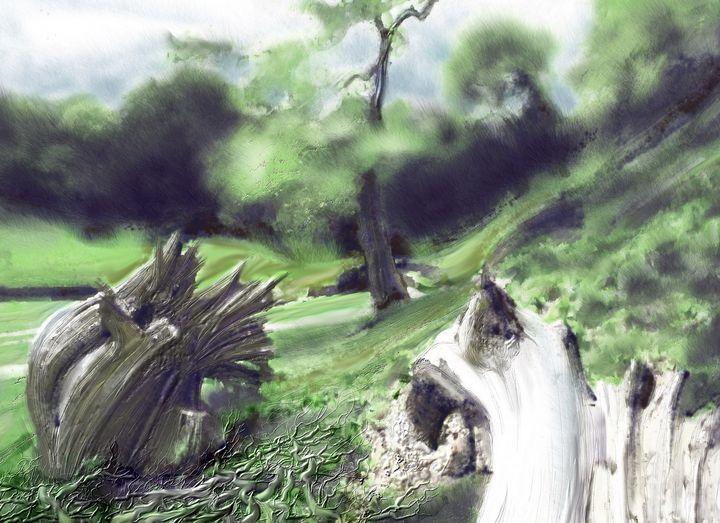 Fallen and cut trees (2) - Tony Walling Creative Arts