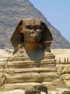 The Sphinx in Giza Egypt