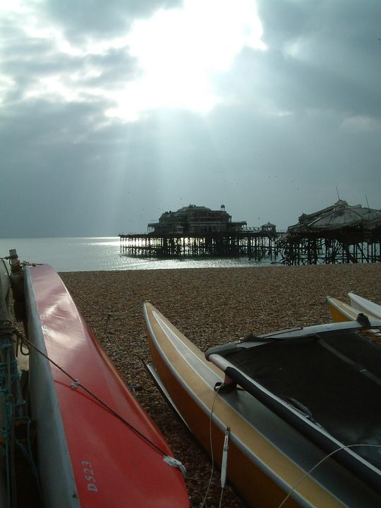 Brighton Pier before the final fire - Tony Walling Creative Arts