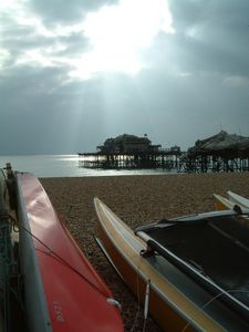Brighton Pier before the final fire