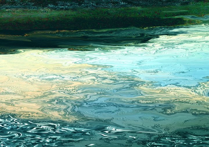 Pastiche of running water - Tony Walling Creative Arts