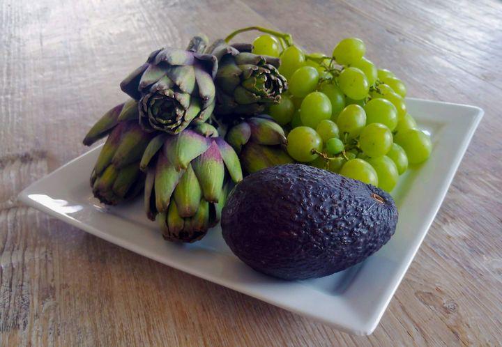 Artichokes, Grapes and Avocado - Tony Walling Creative Arts