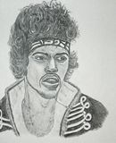 Jimi Hendrix pencil sketch