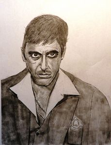 Scarface pencil sketch