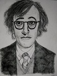 Woody Allen pencil sketch