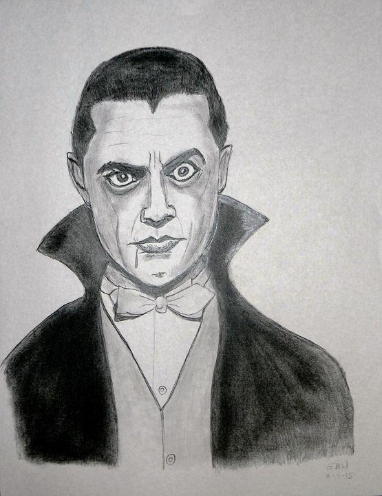 Pencil sketch of Dracula - SketchEddie