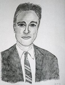 Jon Stewart pencil sketch