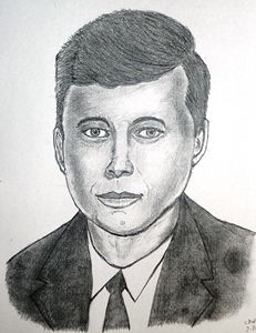 John F. Kennedy pencil sketch