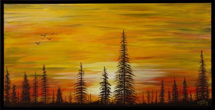 Blazing Pines - Christie Nicklay Art