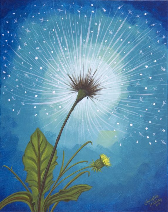 Dandy Dandelion - Christie Nicklay Art