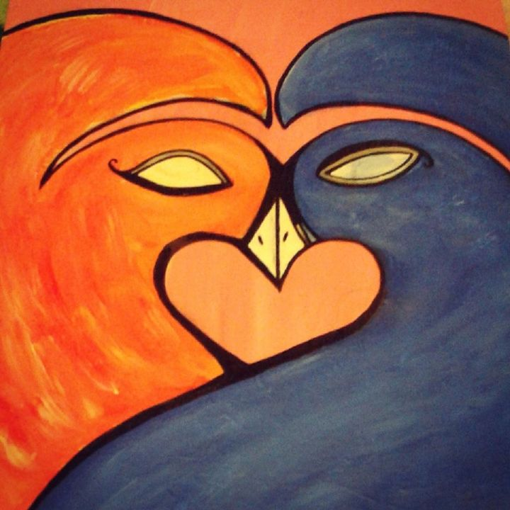Fire and Water Love Birds - Liketheskyproductions