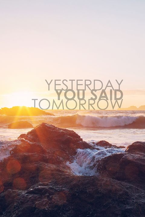 Yesterday you said tomorrow - Alexandre Ibáñez