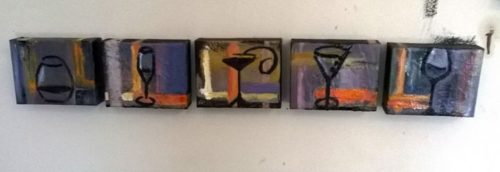 Mini Wine Set - Nathan Evans' Artwork