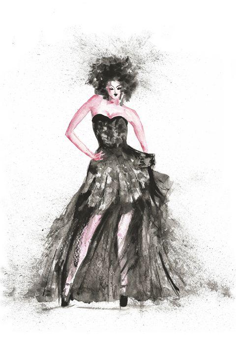 Fashion Vogue woman - NatalyArt