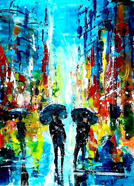 City rain - NatalyArt