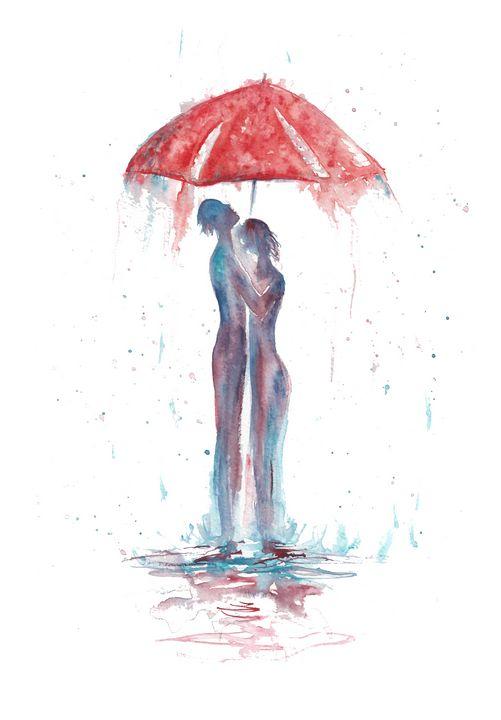 Rain abstract Fantasy Romance - NatalyArt