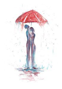 Rain abstract Fantasy Romance