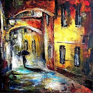 Rainy Night walk alone