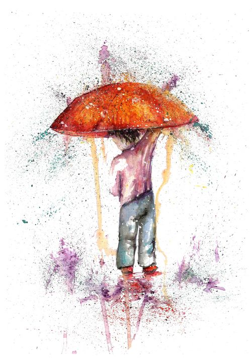 Raint Fantasy with umbrella - NatalyArt