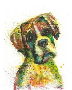 Doggy watercolor